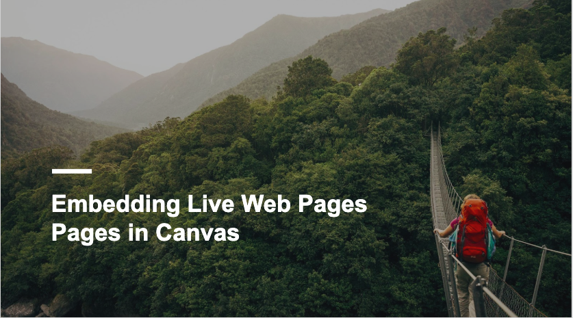 Embedding Live Web Pages in Canvas Portfolio